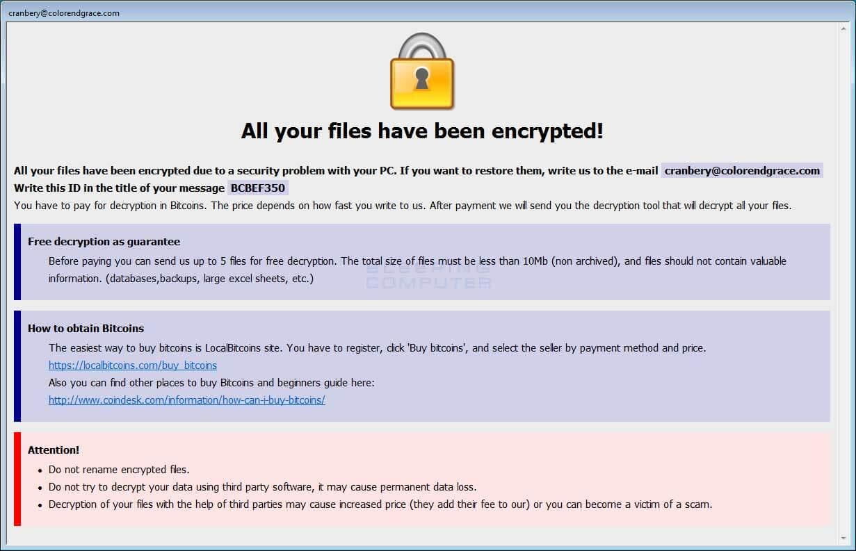 Pedido de Resgate de Ransomware 3